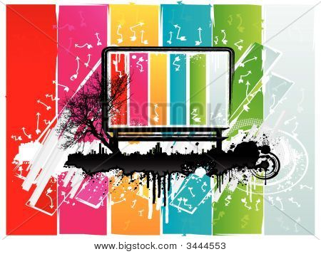 Rainbow Urban Billboard Background