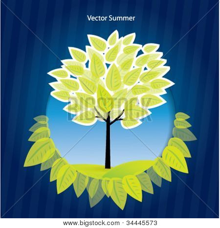 Abstract summer or nature vector background