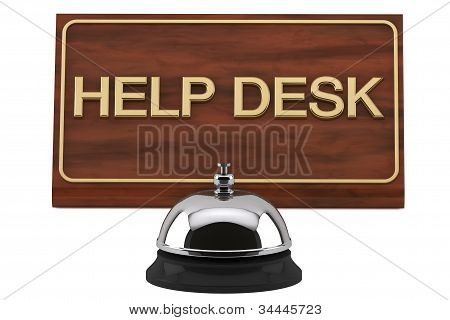 Service Bell With Help Desk Sign
