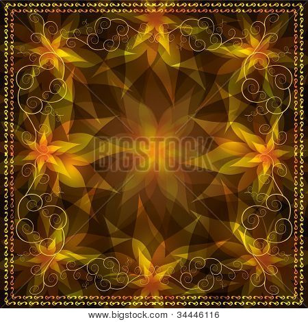 Ornamental Background With Decorative Pattern