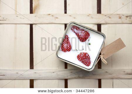 Strawberries Floating In Milk