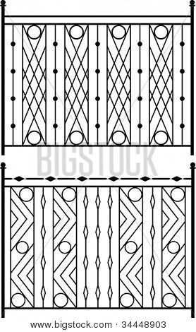 Wrought Iron Gate, Door, Fence, Window, Grill, Railing design Stock