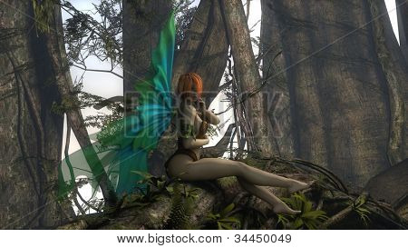 forest green fairy