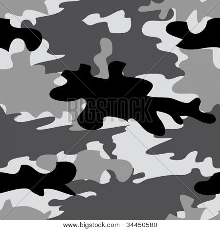 Seamless urban city and winter camouflage pattern