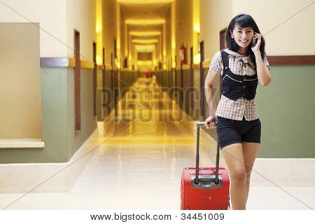 Hotel Guests At Aisle