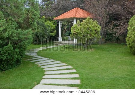Summerhouse And Walkway
