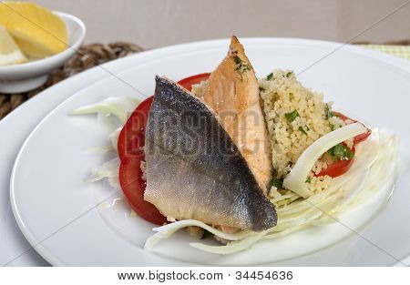 Arctic Char On Couscous And Fennel