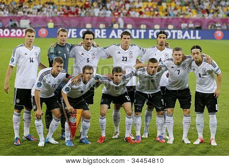 Germany National Football Team Pose For A Group Photo