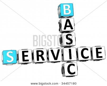 3D Basic Service Crossword