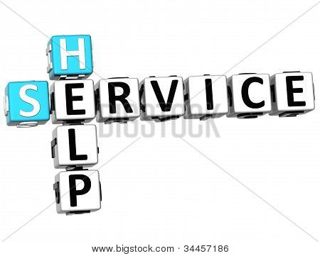 3D Help Service Crossword