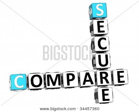 3D Secure Compare Crossword
