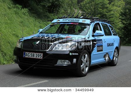 Team Saxo Bank Sunguard Car