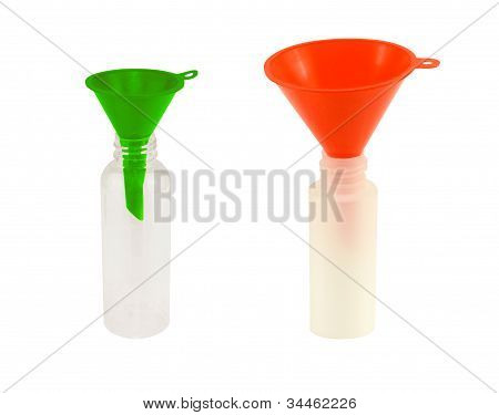 green and red funnels