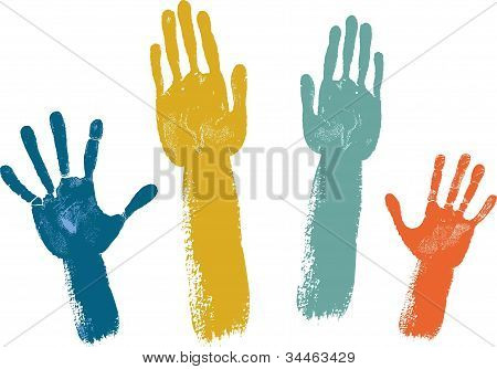 Voting hands isolated isolated on white background