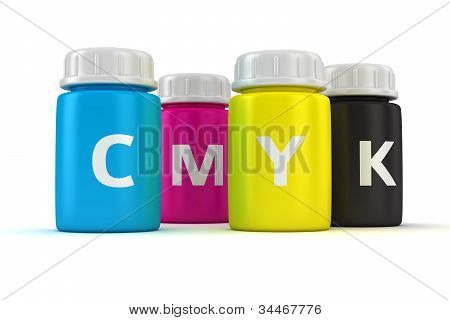 Bottles With Paint