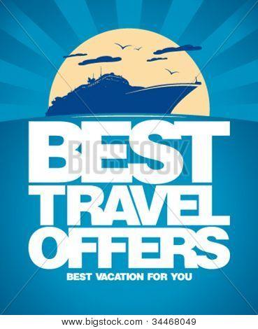 Best travel oferece modelo de design de publicidade.