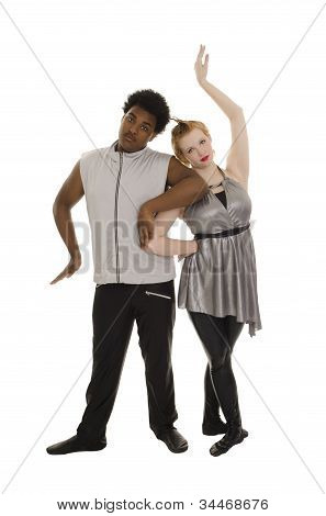 Space Age Contemporary Dancers Couple