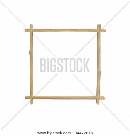 Bamboo Frame On White