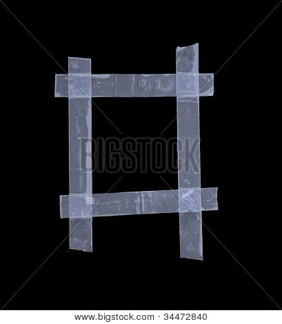 Clear Tape Creating A Frame