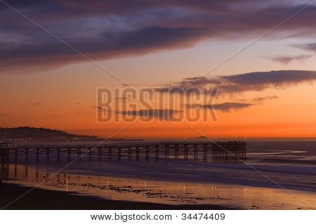 Pier In San Diego At Sunset