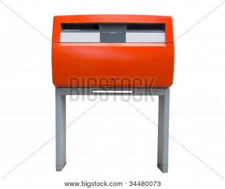 Orange Dutch Public Mailbox
