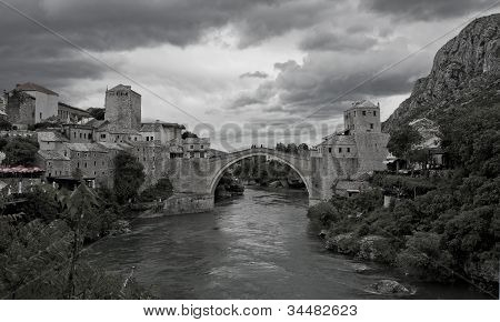 Mostar Bridge, Mostar, Bosnia And Herzegovina