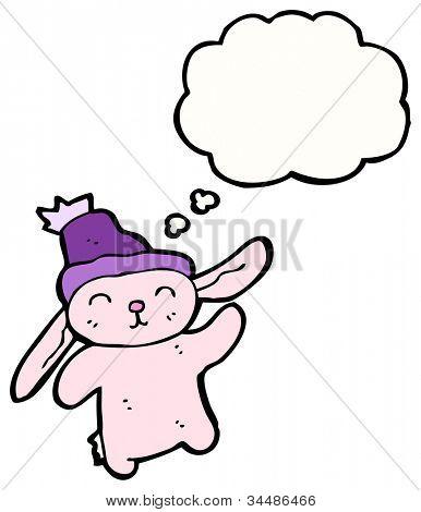 cartoon bunny rabbit in hat