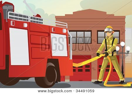 Working Fireman