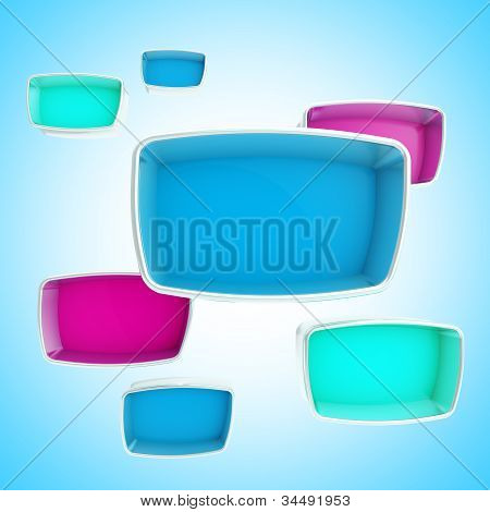 Abstract background of copyspace showcases