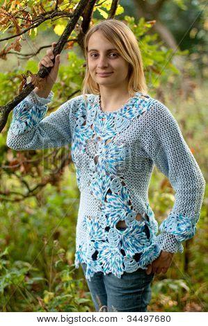 Girl In Blue Pullover