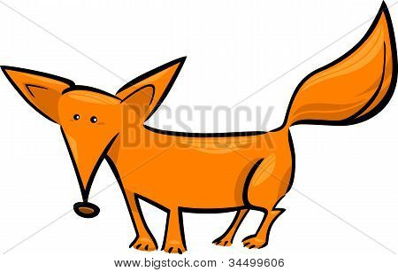 Cartoon Illustration Of Red Fox