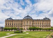 South wing of Baroque Wurzburg Residence (Wurzburger Residenz), the UNESCO World Heritage Site in Fr poster