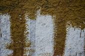 A Dirty Wall With Smudges From Paint.  Background Texture Wall. poster