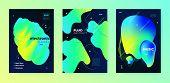 Electronic Music Festival. Dj Sound. Neon Futuristic Design. Vibrant Abstract Lines. Music Backgroun poster