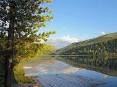 Ulagan Lake. Altai Mountains. Siberia Russia. Nature Landscape poster