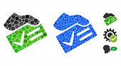 Vote Yes Mosaic Of Spheric Dots In Different Sizes And Color Hues, Based On Vote Yes Icon. Vector Do poster
