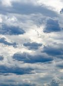 Cloudy Sky In The Evening Twilight. Cumulus Clouds. Gloomy Sky poster