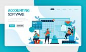Landing Page Of Accounting Software. Accounting Process Of Recording Financial Transactions Pertaini poster