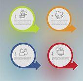 Infographics. Saving Data. Infographics Of Data Storage. Cloud Technology. Infographics Cloud Techno poster