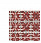 Norwegian Traditional Ornament. Seamless Pattern With Geometric Ornament. Knitting Pattern. Vector. poster