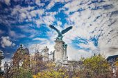 Eagle On The Gate To The Buda Castle, Budapest, Hungary. It Is Bronze Statue On The Hill. poster