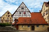 Historic, Medieval Half-timbered Houses. The Old German City Of Bad Wimpfen In Baden-w Rttemberg, Ge poster