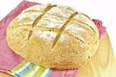 image of baking soda  - A round loaf of homemade Irish soda bread - JPG