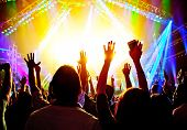 stock photo of swing  - Rock concert - JPG