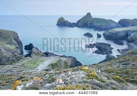 Long Exposure Twilight Image Overlooking Beautiful Harbour