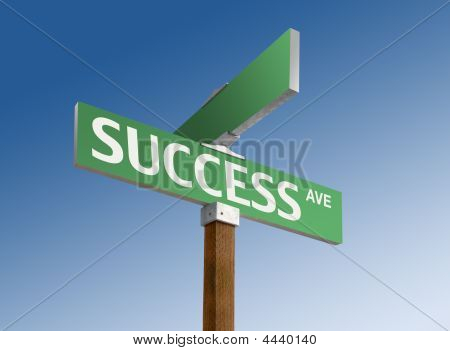 "Street Sign Reading ""success"""