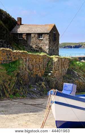 Mullion Cove Harbour, Cornish Fishing Port, Cornwall.