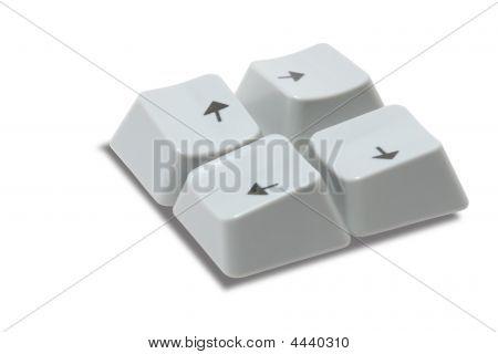 Computer's Keys On White