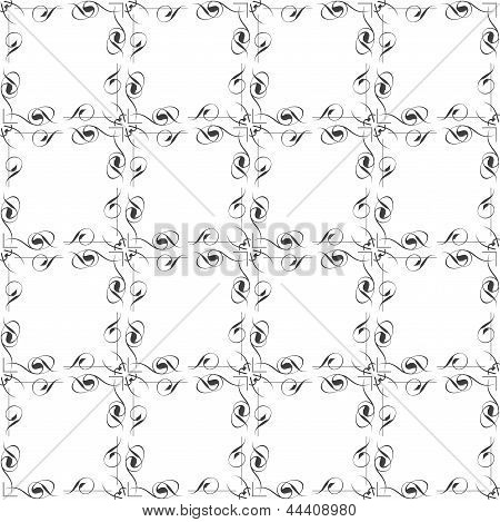White Flow Background, Seamless Pattern