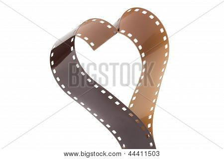 Heart Shape Made From 35Mm Negative Film Strip